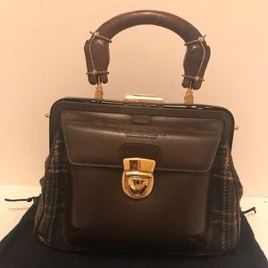 Brooks Brothers Tweed &Leather Handbag NWOT